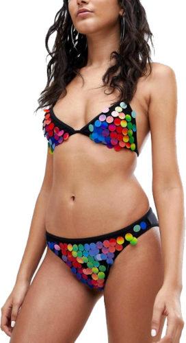 Maillot de bain bikini à sequins Jaded London