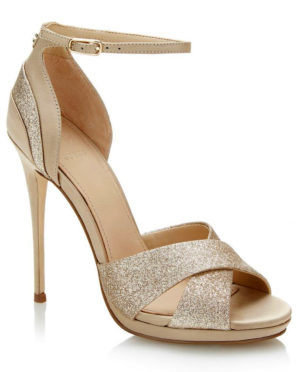 Sandale Guess Tabatha paillettes blanches