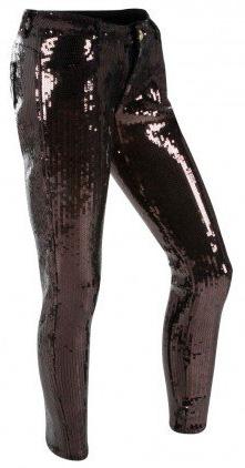 Pantalon coupe jeans à paillettes noires