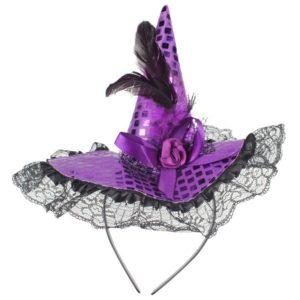 Chapeau de sorcière paillettes halloween