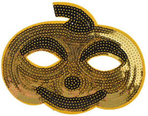 Masque citrouille paillettes dorées