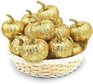 Déco citrouilles dorées