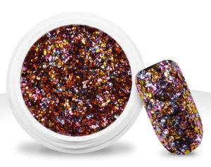 Pot de paillettes multicolores