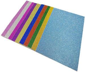 Feuilles A4 paillettées différentes couleurs