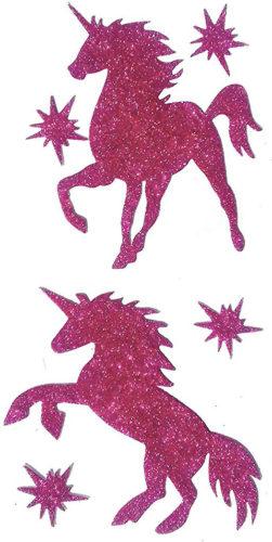 Stickers autocollants licornes à paillettes