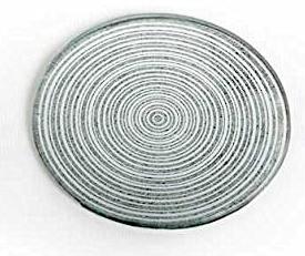 Dessous-de-plat en verre argent métallisé