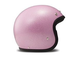 Casque moto paillettes rose