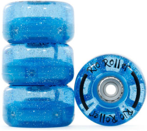 Roues bleues pour quad patins à roulettes
