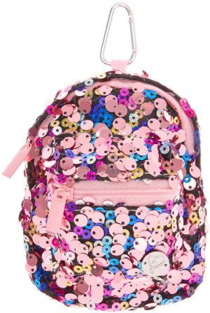 Clip avec mini sac à dos rose 2 compartiments JoJo Siwa pour attacher aux vêtements ou au sac