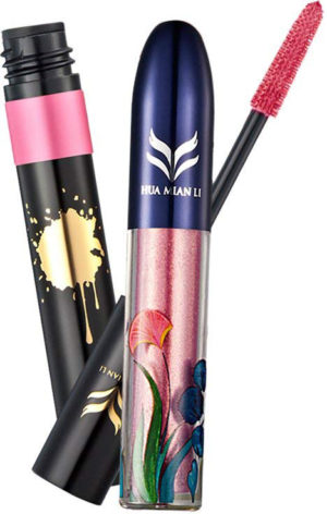 Sharplace Eyeliner liquide waterproof pailletté rose et son mascara