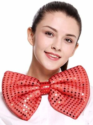 Grand noeud papillon rouge costume clown