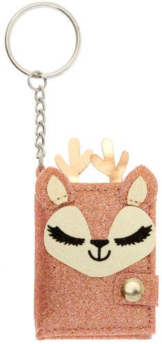 Porte-clés paillettes Ginger le renne journal intime