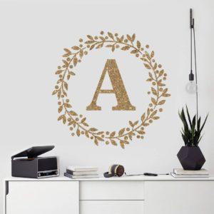 Sticker lettre initiale vinyle amovible
