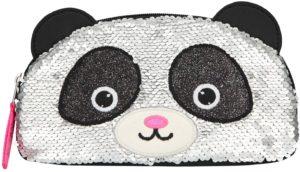 Trousse à paillettes panda