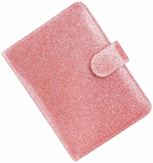 Porte-Passeport rose à paillettes