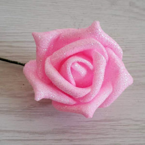 Rose pailletée