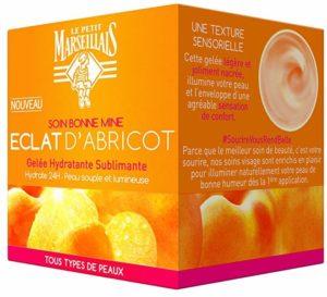 Le Petit Marseillais gelée hydratante sublimant éclat abricot pot