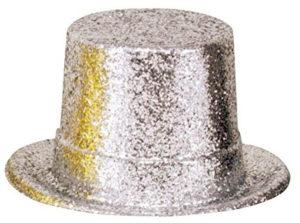 Chapeau haut de forme argenté