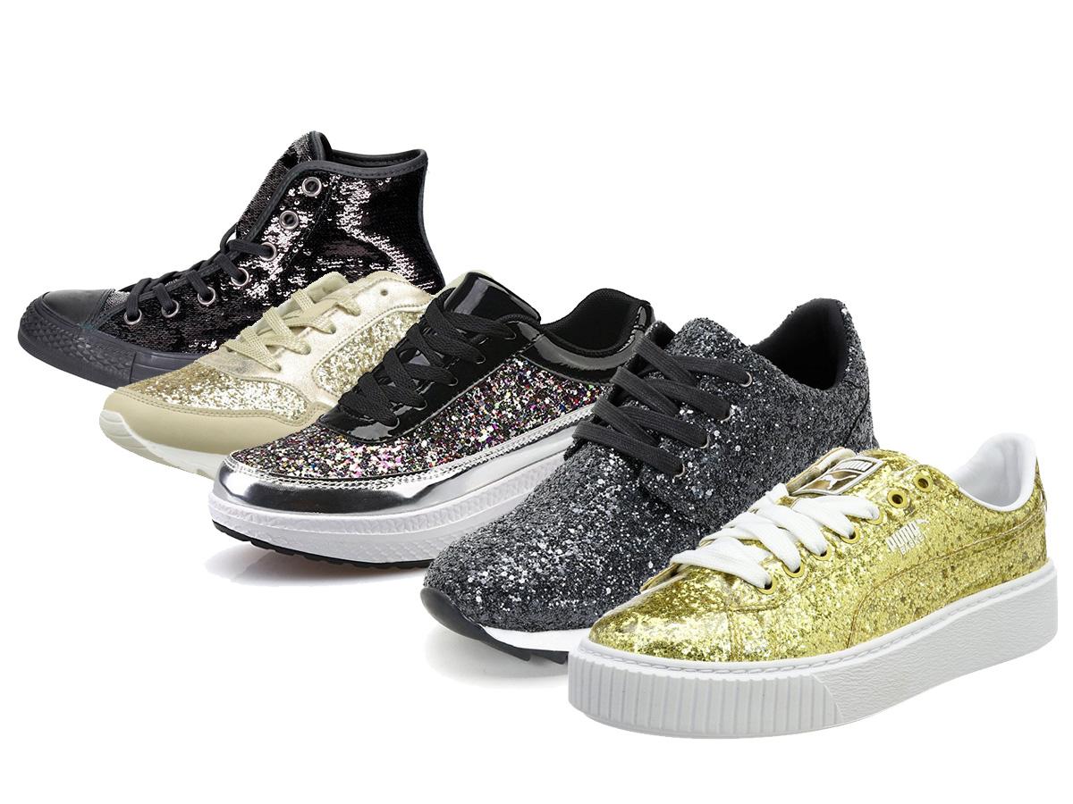 0363becc29f Voici une sélection de baskets et sneakers pailletées faciles à porter
