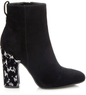 Bottine Guess nasia paillettes noires sur le talon