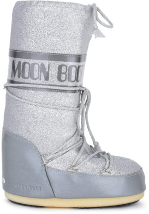 Silver Glitter Delux Moon Boots