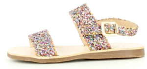Sandale paillettes multicolores enfant