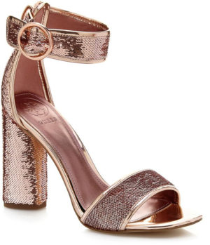 Sandales Guess abha paillettes rose