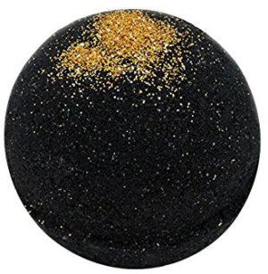Glitter bath bomb noir et or