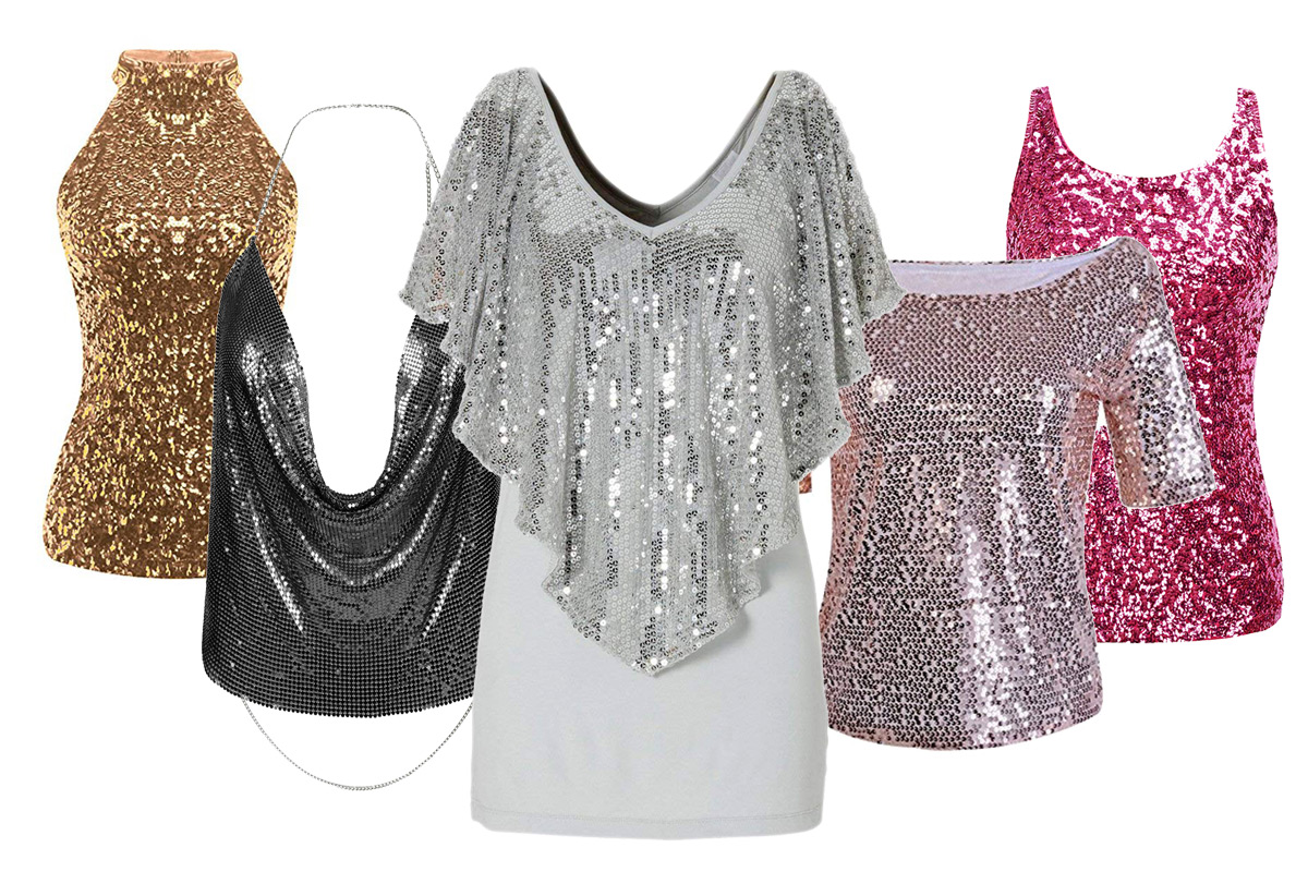 Tops à paillettes