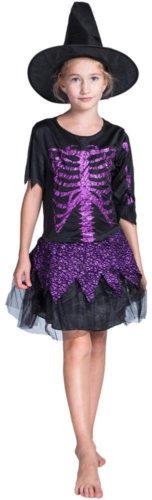 Robe de sorcière squelette Halloween