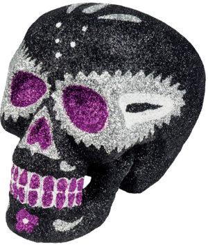 Crâne pailleté noir