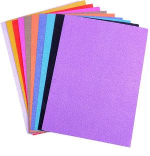 Papier pailleté cartonné A4