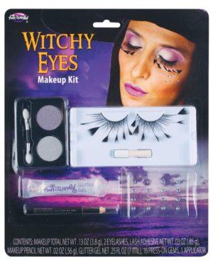 Maquillage de sorcière faux-cils