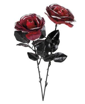 Roses rouges et noires pailletées