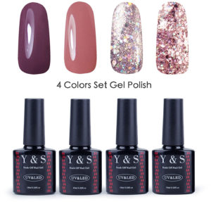 Vernis gel semi-permanent paillettes