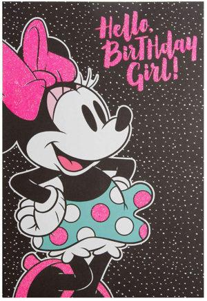 Carte carte anniversaire pour fille Minnie Mouse