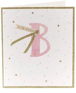 Carte anniversaire paillettes
