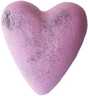 Boule de bain jasmin paillettes argentée en forme de coeur
