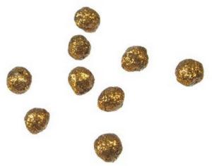 Boules pailletées or