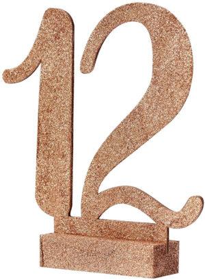 Numéro de table à paillettes