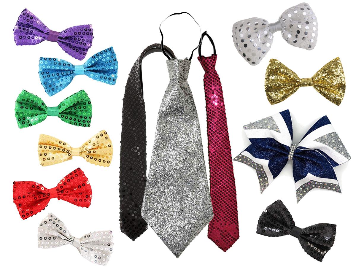 Noeuds papillons et cravates à paillettes